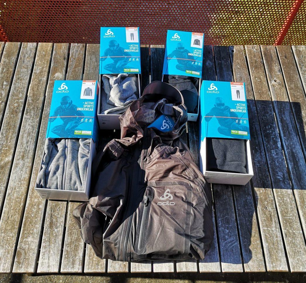 Réception des sous couches Active Warm Eco Odlo et de la veste Dual Dry.