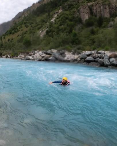 Apprendre à sortir de l'eau en cas de chute