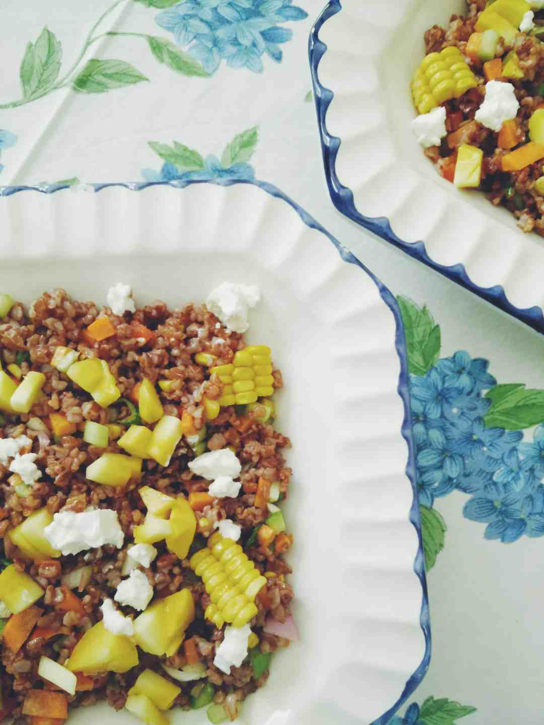 Red Rice & Mango Salad w/ Sriracha Vinaigrette