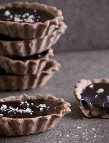 Dark Chocolate Caramel Tarts