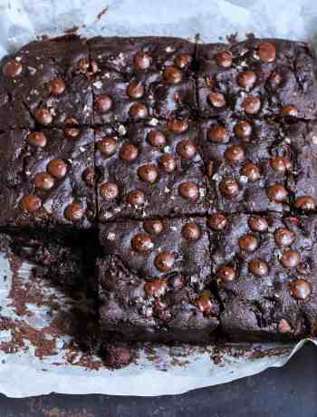 Eggless Chocolate Cherry Cake easy baking with fruits dark chocolate wholegrain