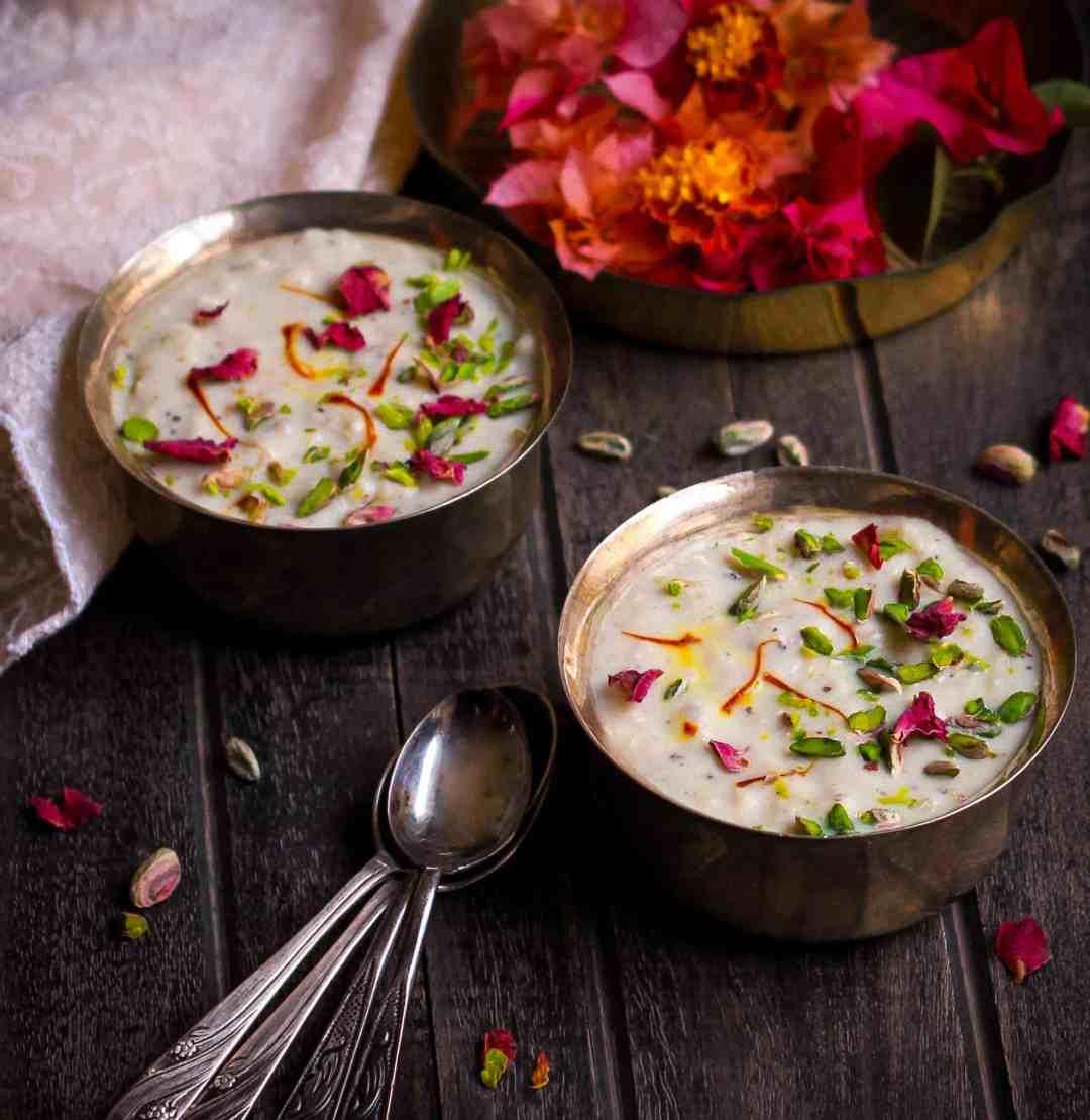 Makhane Ki Kheer vrat ka khana Indian fasting food glutenfree dairyfree
