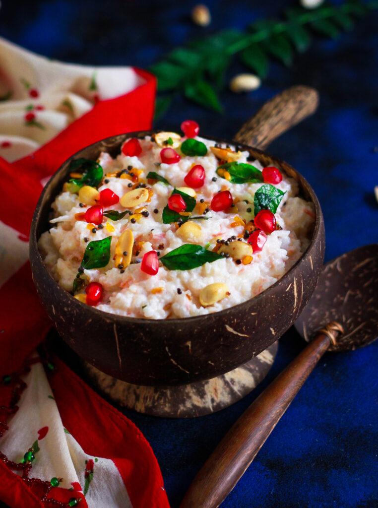 Curd Rice healthy vegetarian recipe