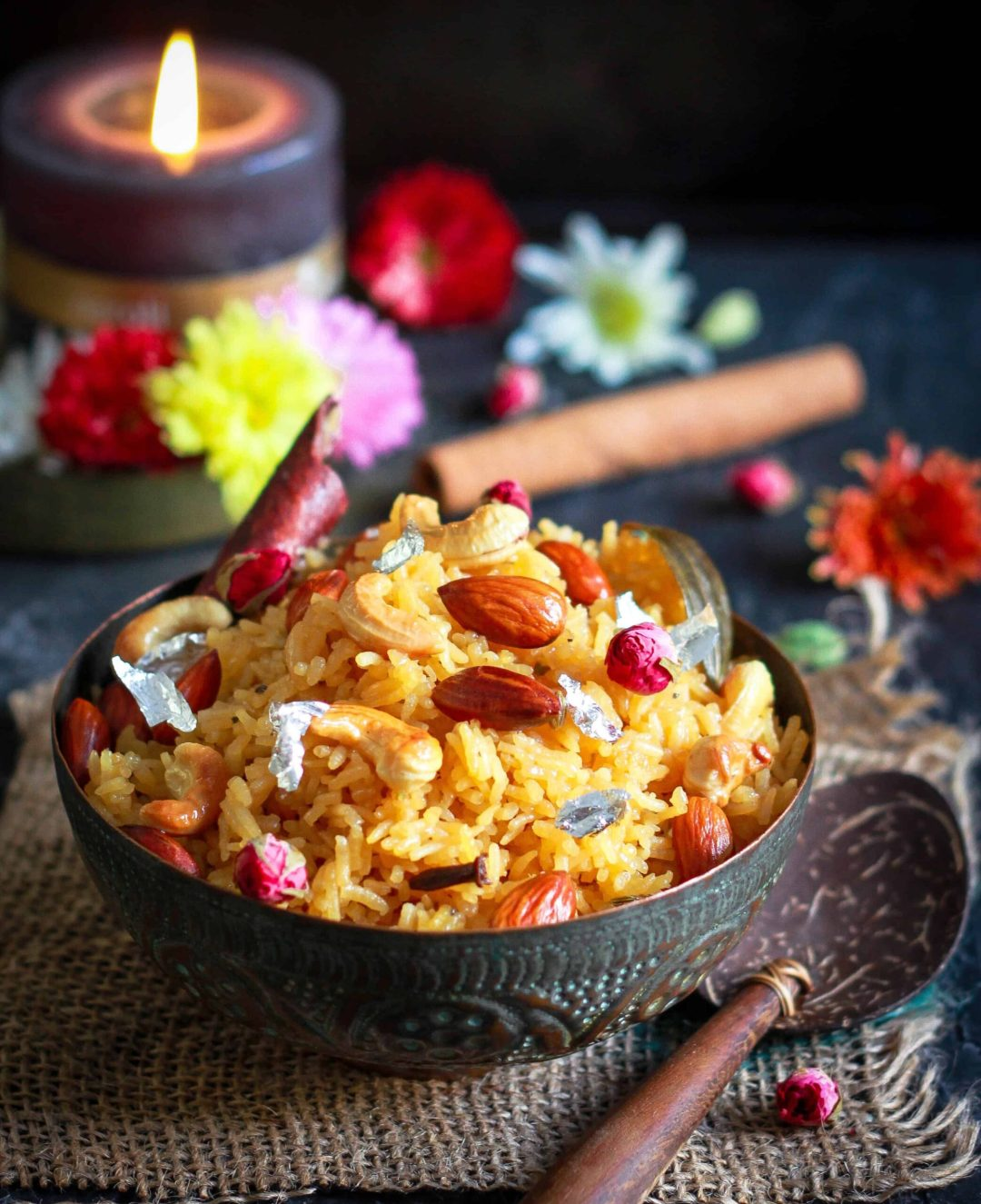 Jaggery Rice Gur Wale Chawal Indian Festive Dessert