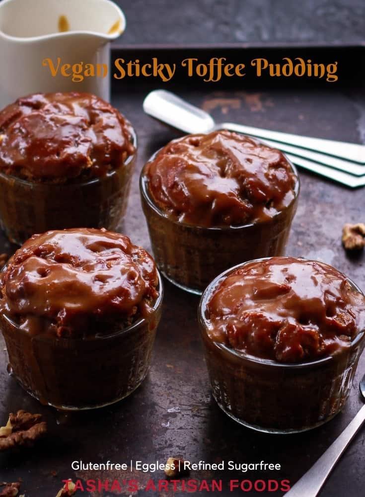 Vegan Sticky Toffee Pudding Glutenfree Dairyfree Refined Sugarfree Dessert