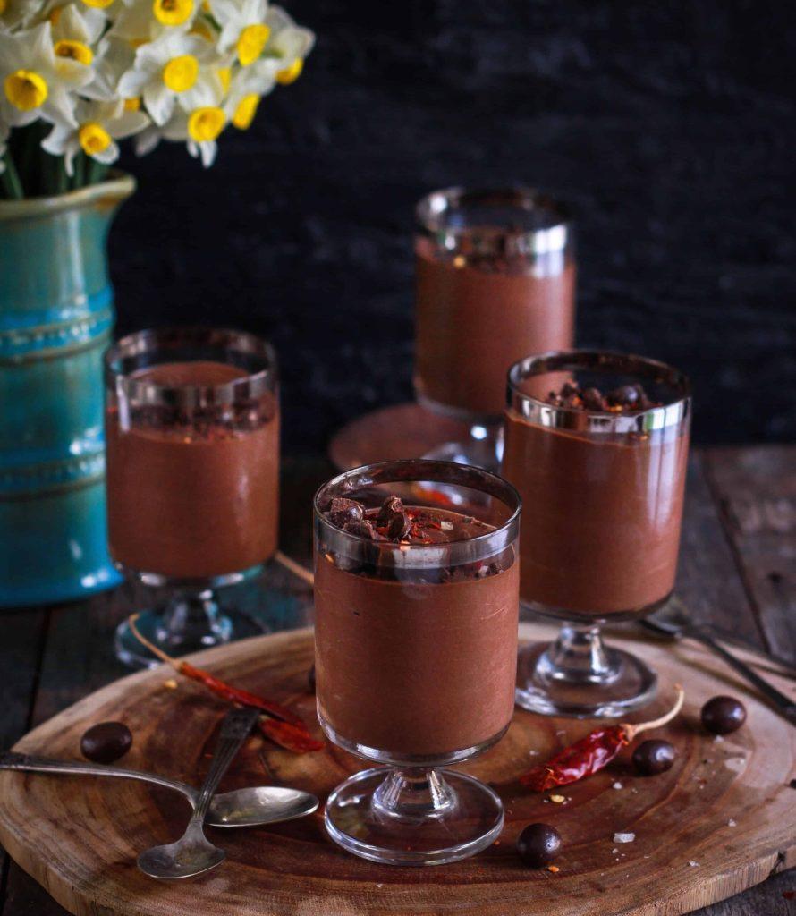Chilli Chocolate Pudding vegan glutenfree refined sugarfree easy dessert
