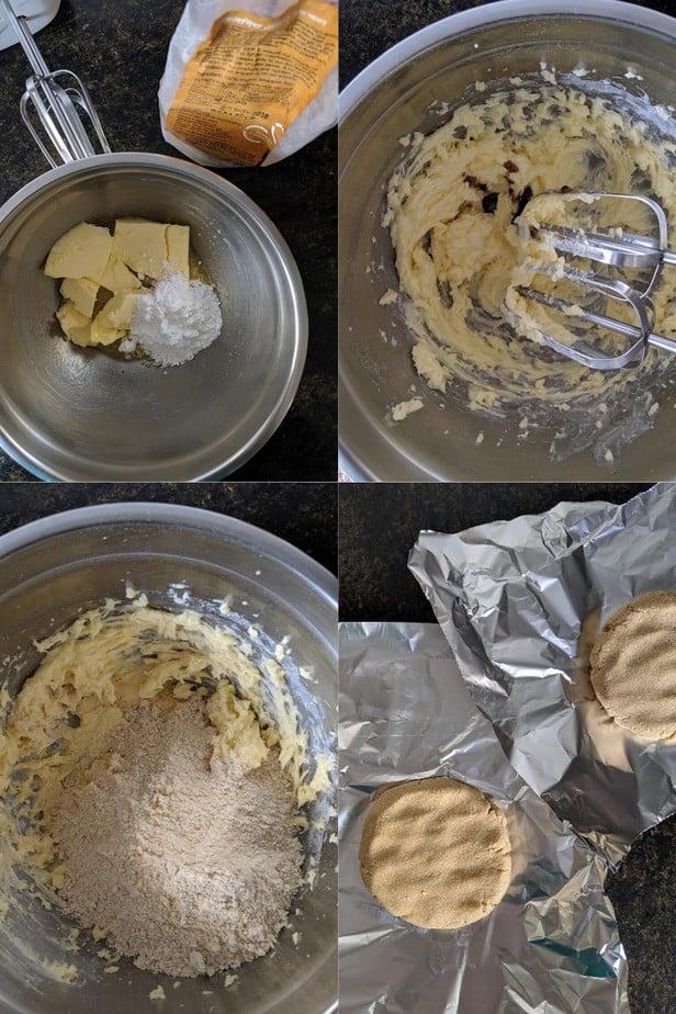 Process of making 3 Ingredient Gluten-Free Shortbread Cookies  Easy Eggless Baking