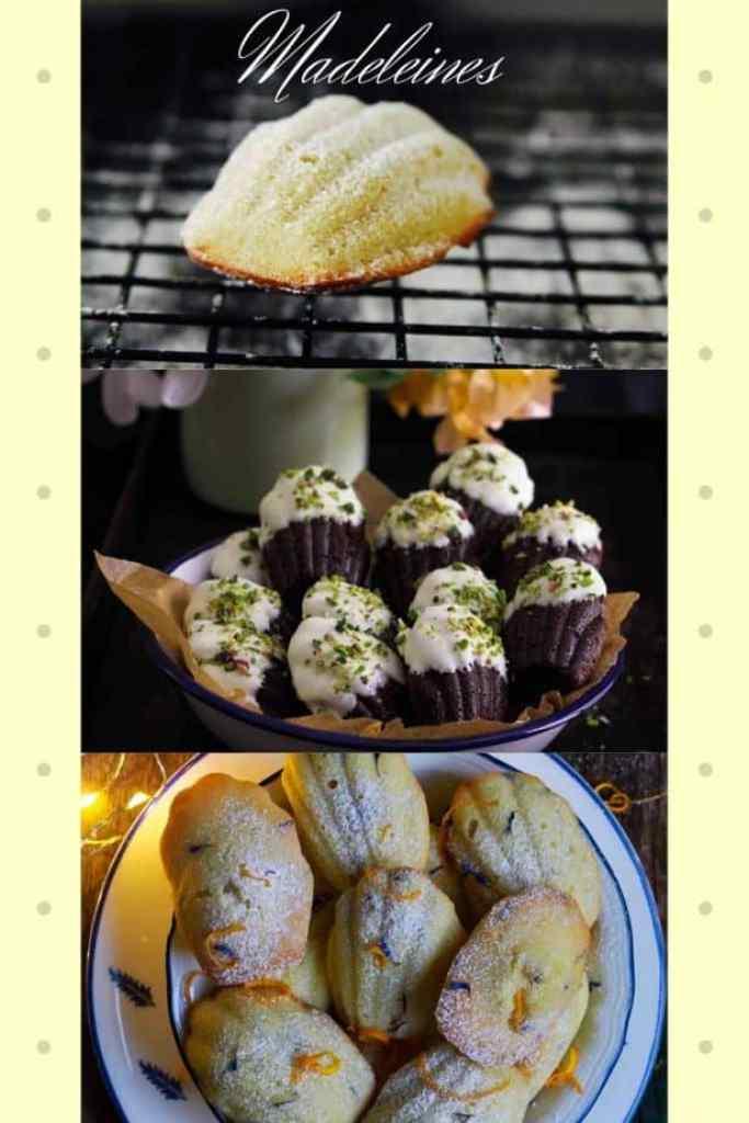 Madeleines from the blog - Lemon Lavender | Chocolate | Orange