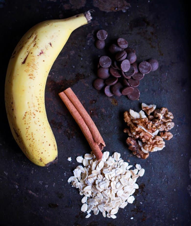 Ingredients for Vegan Oats Banana Mug Cake  | Easy Kid Friendly Recipe