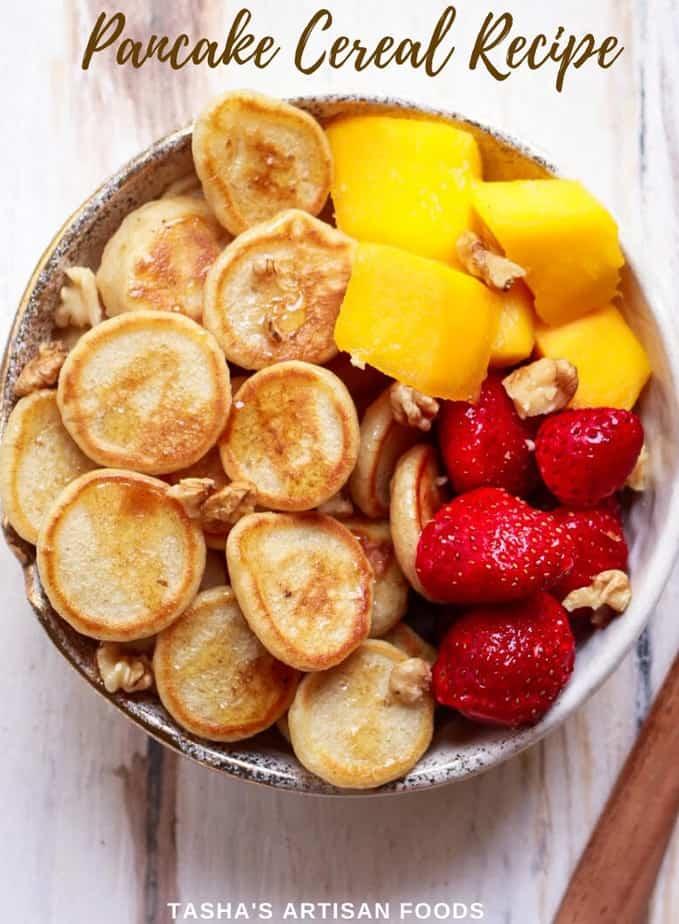 Pancake Cereal | Easy fun vegan pancake recipe| How to make pancake cereal