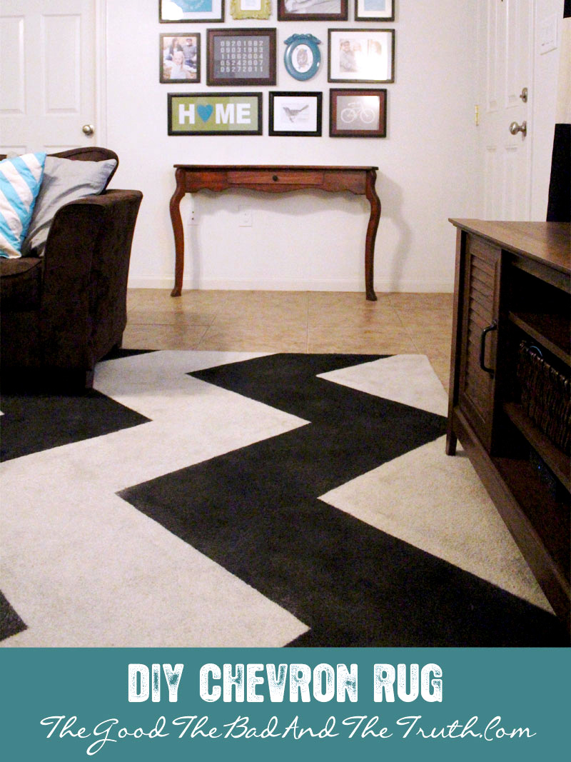 DIY Painted Chevron Stripe Rug