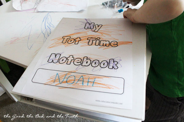 Tot Notebook to Keep Toddler Busy