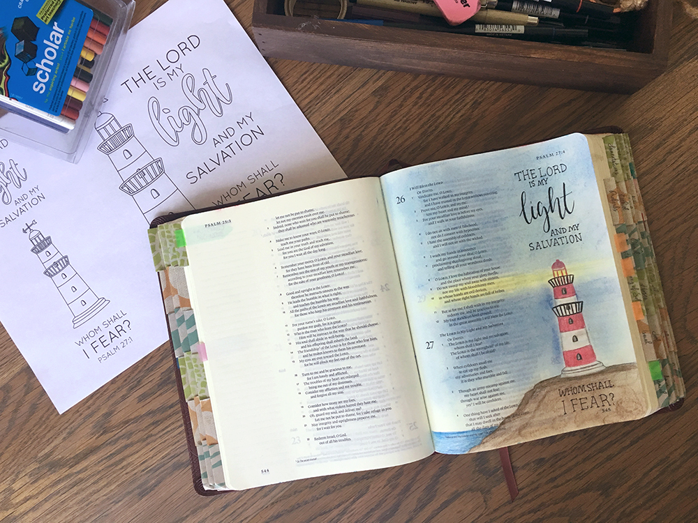 Easy Bible Journaling With Free Psalm 27 Template