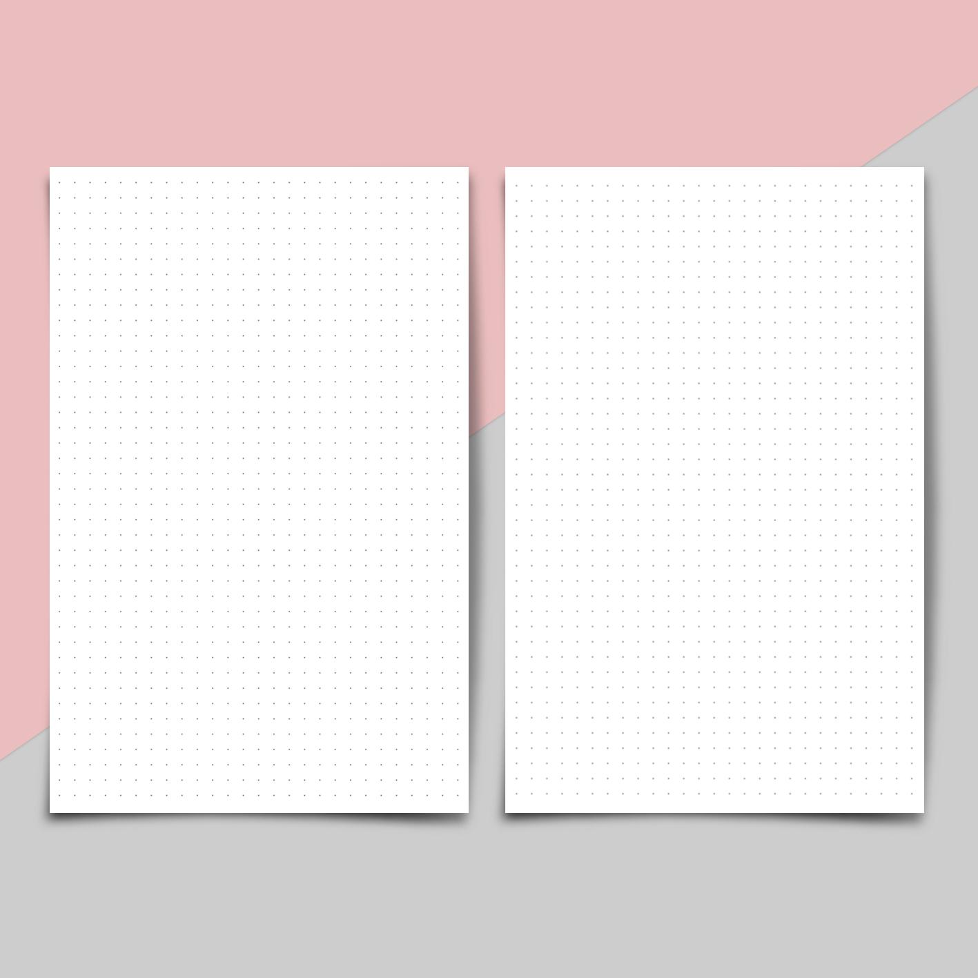 Printable Blank Dot Grid Paper Inserts Tasha Wiginton