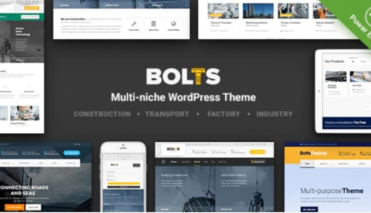 Bolts Construction and Transport WordPress Theme