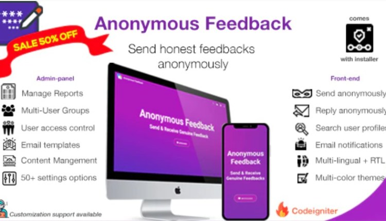 Anonymous Feedback PHP Script
