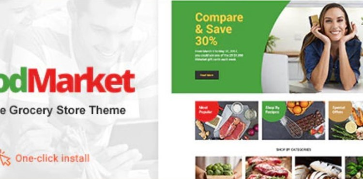 Food Market Food Shop and Grocery Store WP Theme