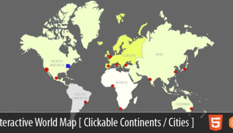 Interactive World Map With Cities PHP Script
