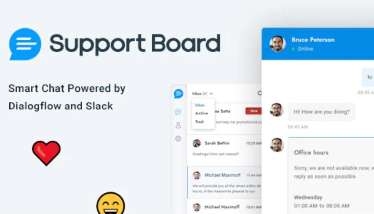 Support Board Chat And Ticket PHP Script