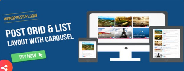 Visual Composer Post Grid List Layout With Carousel plugin