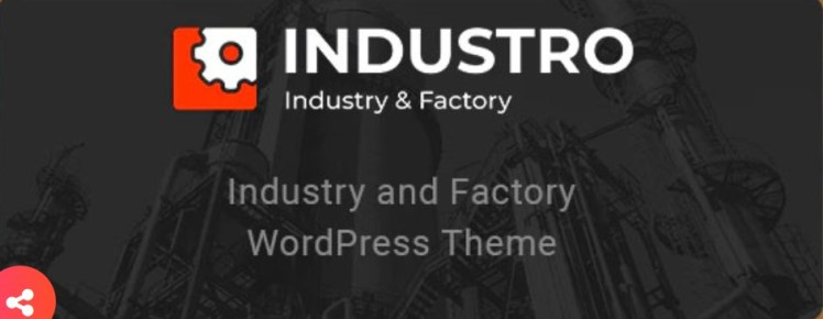 Industro Industry and Factory WordPress Theme
