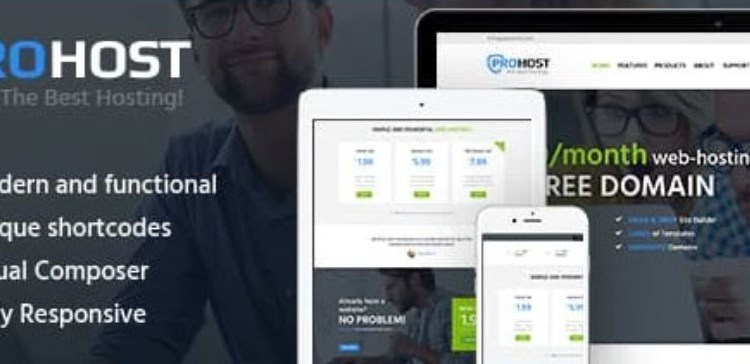ProHost A Trendy Internet Hosting and Technology Theme