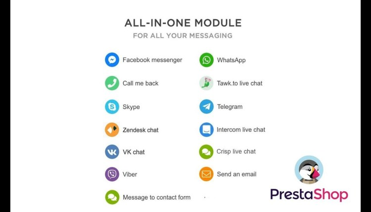 All In One Module Live Chat WhatsApp Call Back Messenger V 1.6.4