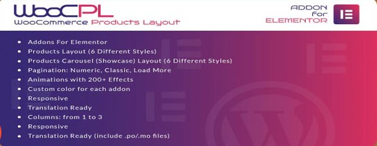 WooCommerce Products Layout plugin