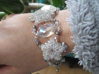 Snowy Patience in Bloom Bracelet