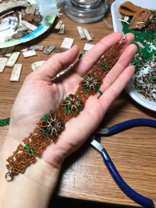 Netted Patience in Bloom Forest Bracelet