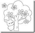 桜 塗り絵用白黒イラストまとめその10