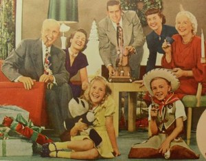 1950s-Vintage-Americana-Family-Photo-Kids-Cowboy-Christmas-Movie-Projector-Holiday-Advertisement_0