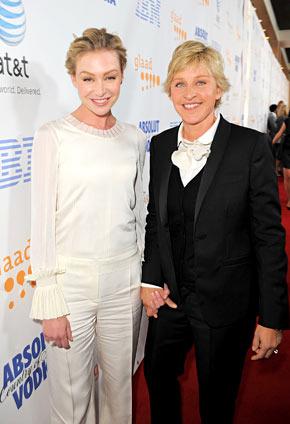 Newly Married Portia de Rossi and Ellen DeGeneres