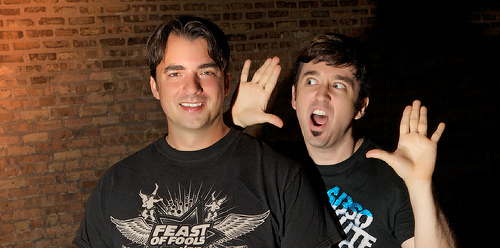 Marc Felion and Fausto Fernos of the Award Winning Podcast Feast of Fun