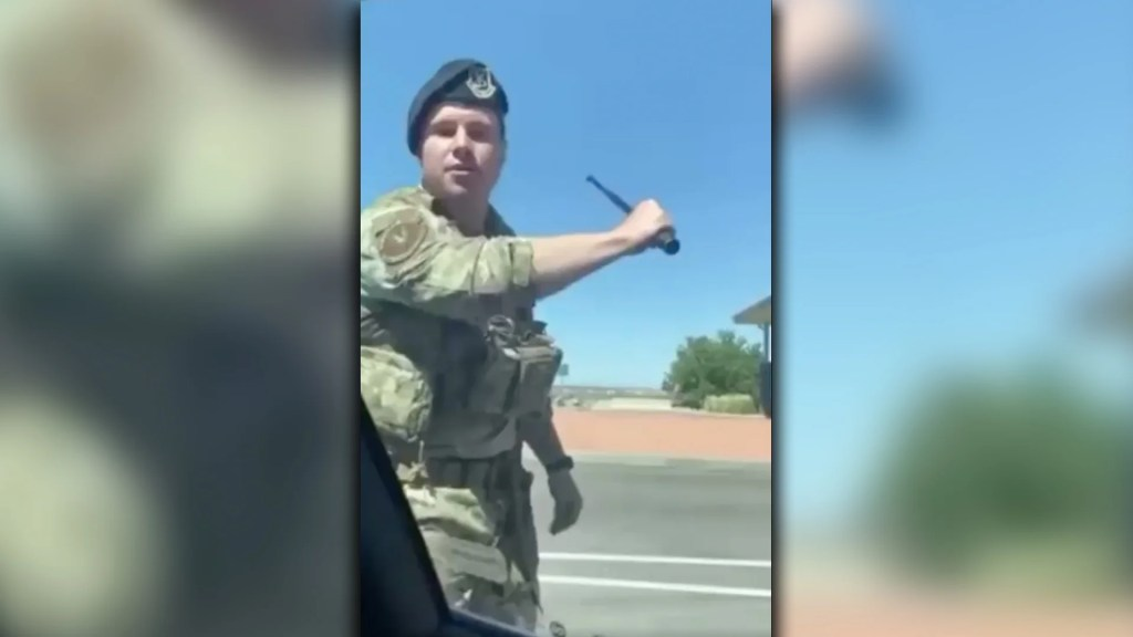 WATCH: Military officer breaks pregnant woman's window out for evading them on base.
