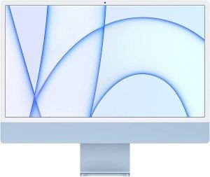 ordenador para diseño gráfico 2021 Apple iMac (de 24 Pulgadas, Chip M1 de Apple con CPU de Ocho núcleos y GPU de Ocho núcleos, Cuatro Puertos, 8 GB RAM, 512 GB) - Azul