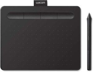 Elegir una Tableta gráfica para diseño gráfico. Wacom Intuos S Tableta Gráfica – Tableta Gráfica Portátil para pintar, dibujar, editar photos con 1 software creativo incluido para descargar, óptima para la educación en línea y el teletrabajo, negra