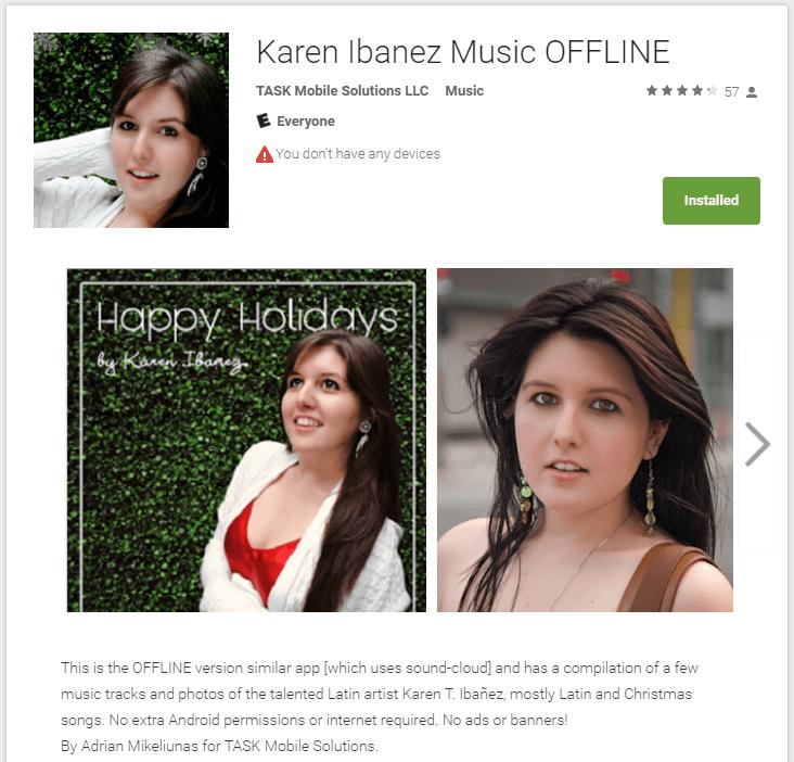 Karen Ibanez off-line app