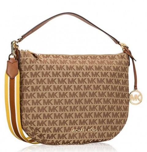TAS MICHAEL KORS CRESCENT SHOULDERS EBONY