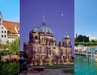 L-R: Tübingen Neckar Front, Berlin Cathedral & Lake Constance