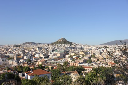 Looking down from our hike up the Acropolis