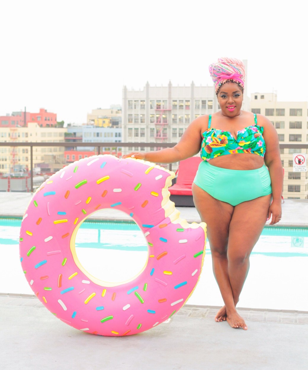 donut float plus size bikini