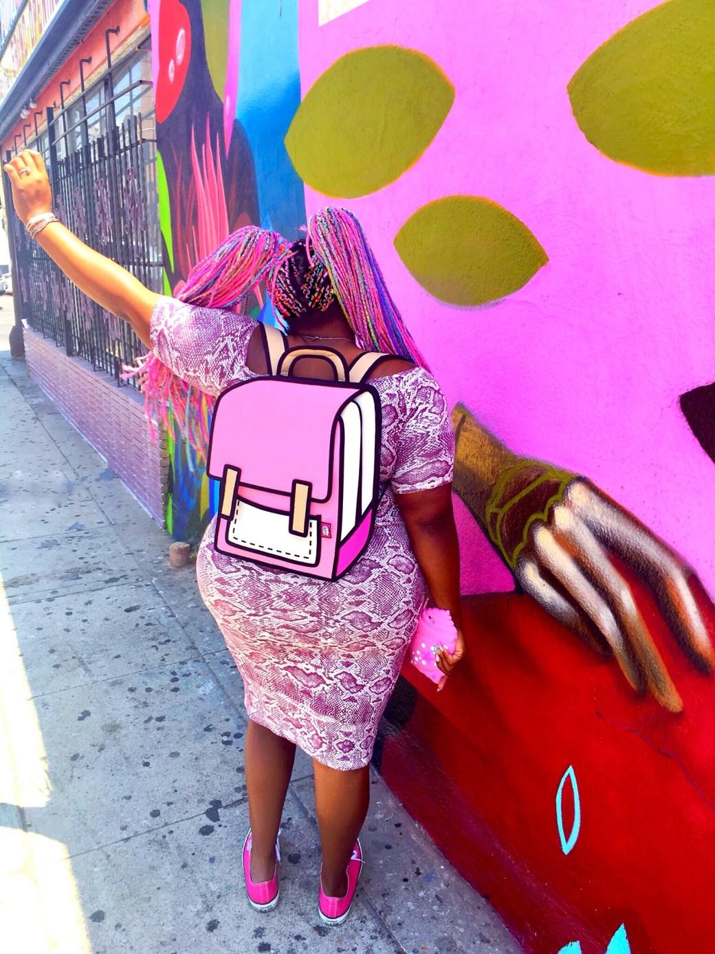 Amina Mucciolo Pink JumpFromPaper Backpack
