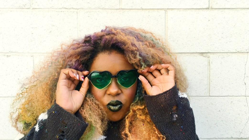 Amina Rainbow Optx Green Heart Frames