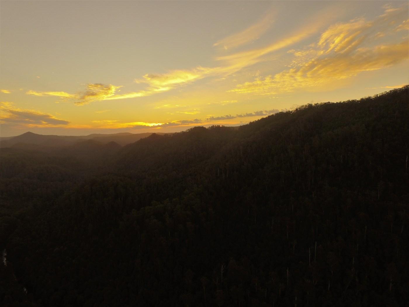 sunset - Hidden Arthur River Camping Spot
