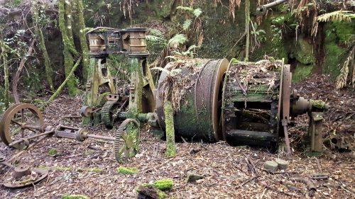 Old Godkin Mine Winch, Exploring Tasmania's West Coast