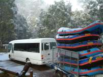Rafting in the snow