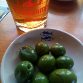 olives and beer