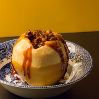 Baked Apples with Warm Cider Caramel