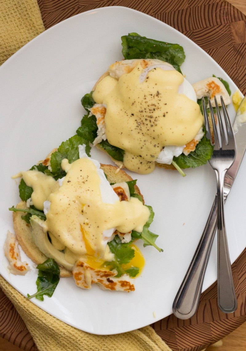 Halloumi Eggs Benedict | Taste and TIpple